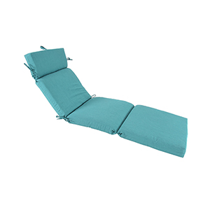 Pacifica Premium Patio Chaise Cushion in Surf