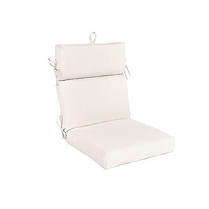 Pacifica Premium Patio Dining Chair Cushion in Sand