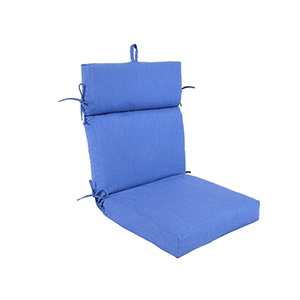 Pacifica Premium Patio Dining Chair Cushion in Lapis
