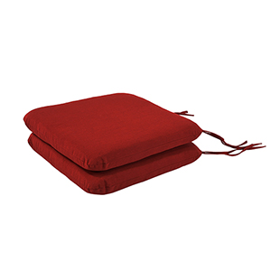 Pacifica Premium Seat Pad Cushion in Caliente, Set of Two