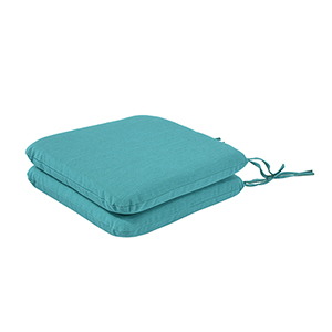 Pacifica Premium Seat Pad Cushion in Surf, Set of Two