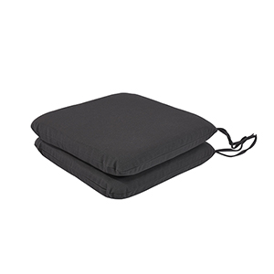 Pacifica Premium Seat Pad Cushion in Slate, Set of Two