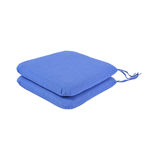 Pacifica Premium Seat Pad Cushion in Lapis, Set of Two