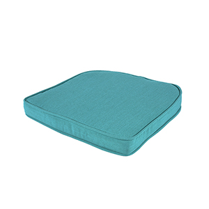 Pacifica Premium Double Welt Wicker Seat Cushion in Surf