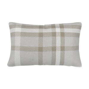 Pacifica 18-Inch Tartan Hemp Brown Throw Pillow