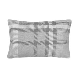 Pacifica 18-Inch Tartan Gray Throw Pillow