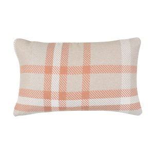 Pacifica Tartan Tuscan Orange Throw Pillow