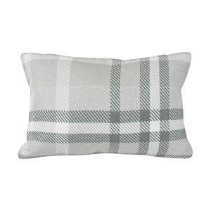Pacifica Tartan Jade Green Throw Pillow