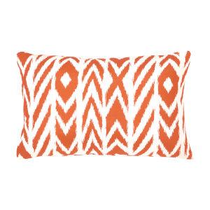 Pacifica Fire Island Tuscan Orange Throw Pillow