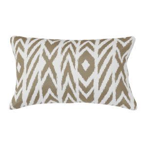 Pacifica Fire Island Hemp Brown Throw Pillow