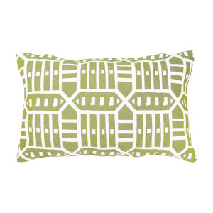 Pacifica Roland Green Throw Pillow