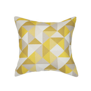 Pacifica Ruskin Yellow Throw Pillow