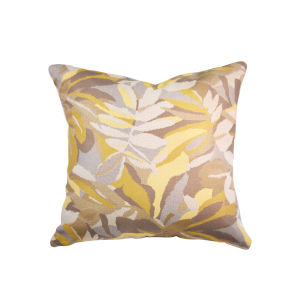 Pacifica Square Dewey Yellow Throw Pillow