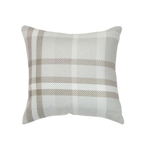 Pacifica Tartan Hemp Brown Throw Pillow