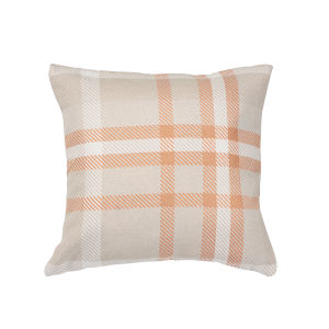 Pacifica Square Tartan Tuscan Orange Throw Pillow