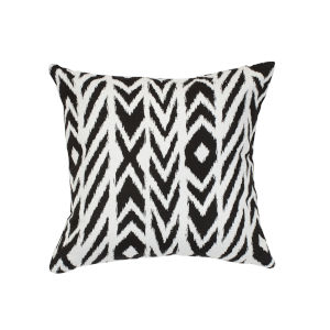 Pacifica Square Fire Island Black Throw Pillow