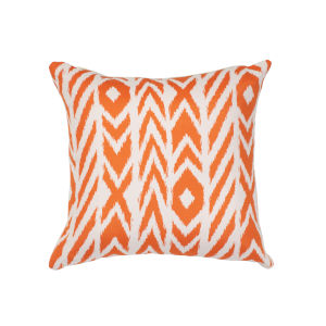 Pacifica Square Fire Island Tuscan Orange Throw Pillow