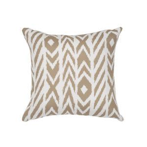 Pacifica Square Fire Island Hemp Brown Throw Pillow
