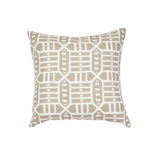Pacifica Square Roland Hemp Brown Throw Pillow