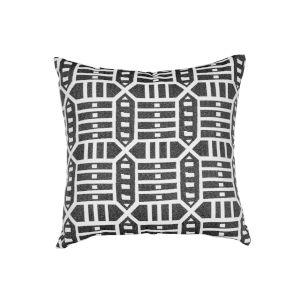 Pacifica Square Roland Black Throw Pillow