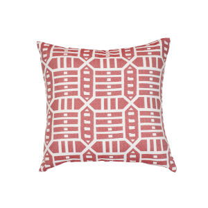Pacifica Square Roland Red Throw Pillow