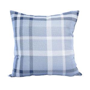 Pacifica 24-Inch Tartan Blue Throw Pillow