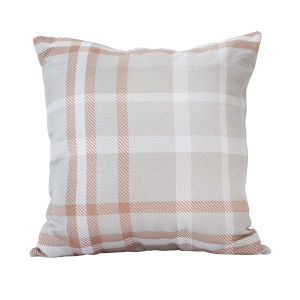 Pacifica 24-Inch Tartan Tuscan Orange Throw Pillow