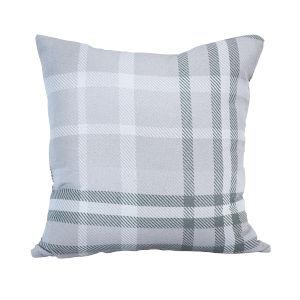Pacifica 24-Inch Tartan Jade Green Throw Pillow
