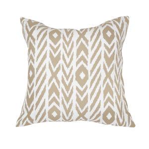 Pacifica 24-Inch Fire Island Hemp Brown Throw Pillow