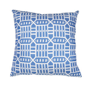 Pacifica 24-Inch Roland Blue Throw Pillow