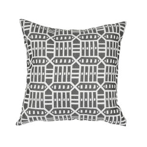 Pacifica 24-Inch Roland Black Throw Pillow