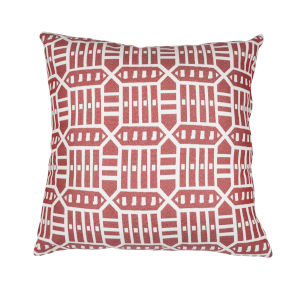 Pacifica 24-Inch Roland Red Throw Pillow