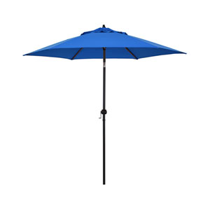 9-Foot Steel Market Umbrella with Push Tilt in Pacific Blue