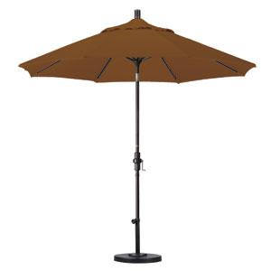 9 Foot Umbrella Aluminum Market Collar Tilt - Bronze/Sunbrella/Cork