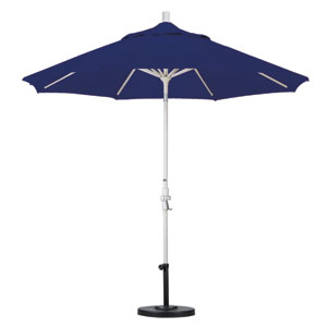 9 Foot Umbrella Aluminum Market Collar Tilt - Sand/Sunbrella/Navy