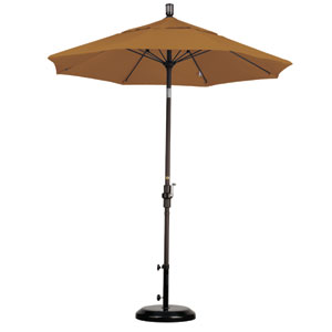 7.5 Foot Umbrella Fiberglass Market Collar Tilt - Bronze/Sunbrella/Cork