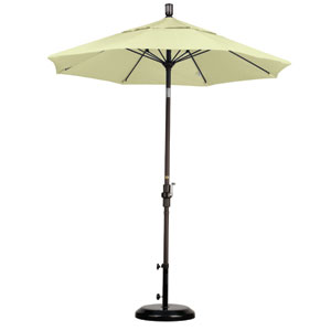 7.5 Foot Umbrella Fiberglass Market Collar Tilt - Bronze/Sunbrella/Canvas