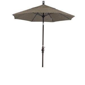 7.5 Foot Fiberglass Market Umbrella Collar Tilt Bronze/Sunbrella/Taupe
