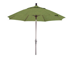9 Foot Fiberglass Market Umbrella Collar Tilt Bronze/Sunbrella/Spectrum Cilantro
