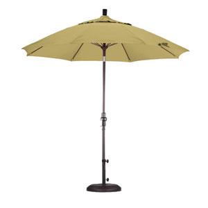 9 Foot Umbrella Fiberglass Market Collar Tilt Bronze/Sunbrella/Wheat