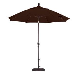 9 Foot Umbrella Fiberglass Market Collar Tilt Bronze/Pacifica/Mocha