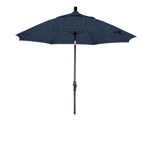 9 Foot Fiberglass Market Umbrella Collar Tilt Matte Black/Sunbrella/Spectrum Indigo