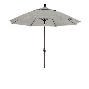9 Foot Fiberglass Market Umbrella Collar Tilt Matte Black/Sunbrella/Granite