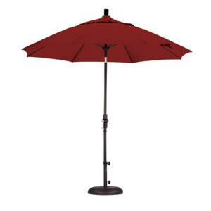 9 Foot Umbrella Fiberglass Market Collar Tilt - Matted Black/Pacifica/Brick