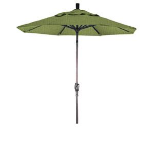 7.5 Foot Aluminum Market Umbrella Push Tilt Bronze/Sunbrella/Spectrum Cilantro