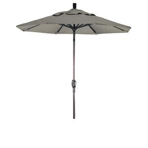 7.5 Foot Aluminum Market Umbrella Push Tilt Bronze/Sunbrella/Spectrum Dove