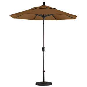 7.5 Foot Umbrella Aluminum Market Push Tilt - Bronze/Sunbrella/Cork