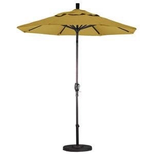 7.5 Foot Umbrella Aluminum Market Push Tilt - Bronze/Sunbrella/Brass
