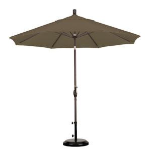 9 Foot Umbrella Aluminum Market Push Tilt - Bronze/Sunbrella/Cocoa