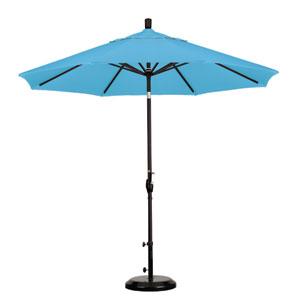 9 Foot Umbrella Aluminum Market Push Tilt - Matte Black/Pacifica/Capri